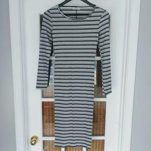 🌸3/$30🌸 Bershka midi striped dress Size M.